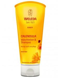 Weleda Calendula Waschlotion & Shampoo - Шампунь-гель для волос и тела серия Календула 200 мл