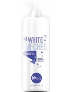 BBCOS White Meches Highlighted Hair Shampoo  Шампунь для обесцвеченых волос, 1000 мл.