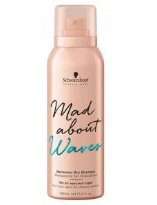 Schwarzkopf Professional Mad About Waves Refresher Dry Shampoo - Освежающий сухой шампунь для волнистых волос, 150 мл