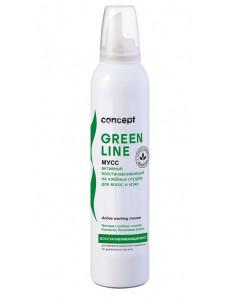 Concept Green line - Активный восстанавливающий на хлебных отрубях мусс для волос, 250 мл