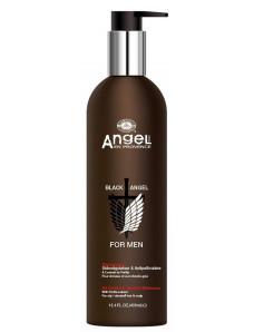 Angel Professional Black Angel for Men  - Шампунь против перхоти, регулирующий выделение кожного секрета с экстрактом периллы, 400 мл