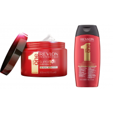 Revlon Uniq One - Akционный Набор для восстановления волос  (Шампунь 300 мл+ Маска 300 мл)
