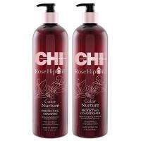 AKЦИЯ - CHI Rose Hip Protecting Shampoo 739 мл + Conditioner 739 мл - Набор для волос