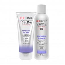 Набор CHI Ionic Color Illuminate Platinum Blonde (sh/355ml + cond/251ml)
