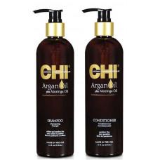 Chi Argan oil Набор - Шампунь 750 мл + Кондиционер 750 мл