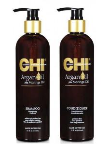 Chi Argan oil Набор - Шампунь 739 мл + Кондиционер 739 мл