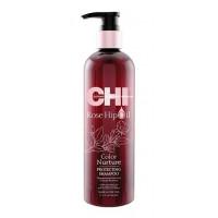 Chi Rose Hip Oil Shampoo - Шампунь с маслом розы и кератином 355 ml