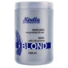 Mirella Маска Блонд с протеинами шёлка для светлых повреждённых волос 1000 мл
