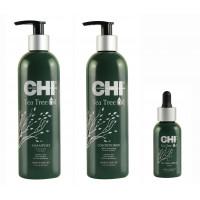 CHI Tea Tree Tranquil Treatment Trio - Набор для лечения волос на основе масла чайного дерева