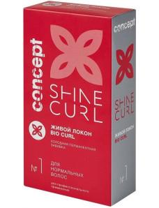 Concept Shine Curl - Биозавивка Живой локон, 100 мл+100 мл.