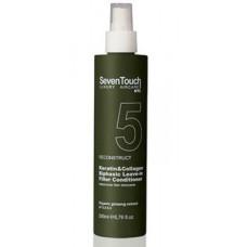 Seven Touch Keratin & Collagen Biphasic Leave-in Filler Conditioner - Двухфазный несмываемый кондиционер с кератином и коллагеном 200 мл