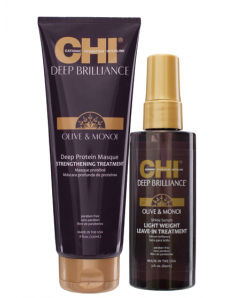 CHI Deep Brilliance Olive & Monoi Oil Masque  230 мл (МАСКА)+ Shine Serum 85 мл
