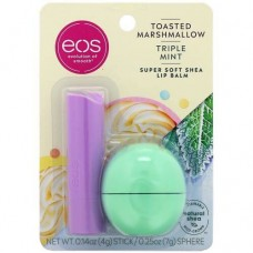 EOS Toasted Marshmallow & Triple Mint, 2 Pack - Набор бальзамов