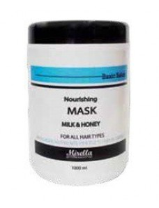 Mirella Professional Питательная маска для волос с молоком и медом 1000 мл