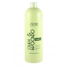 Kapous Professional Studio - Шампунь увлажняющий с маслами Авокадо и Оливы, 1000 мл