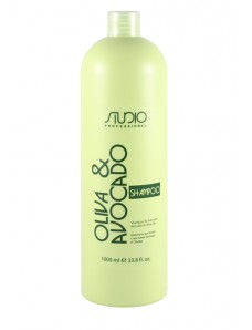 Kapous Professional Studio Шампунь увлажняющий для волос с маслами Авокадо и Оливы, 1000 мл