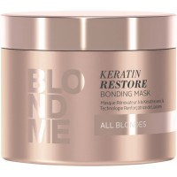 """Schwarzkopf BlondMe Keratin - Маска """"Кератиновое восстановление"""" для всех типов волос, 500 мл"""