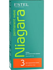 Estel Professional Niagara Permanent Wave № 3 - Набор для химической завивки для окрашенных волос