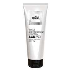 Estel Professional Alpha Homme Pro - Скраб для кожи лица и головы, 250 мл