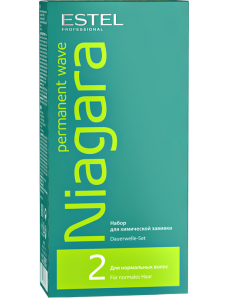 Estel Professional Niagara Permanent Wave (fix/100ml + lot/100ml + gloves) - Набор для химической завивки для нормальных волос