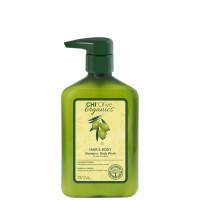 CHI Olive Organics Hair and Body Shampoo - Шампунь для волос и тела, 350 мл