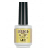 NUB Double Action 2в1 - Основа-закрепитель 15 мл