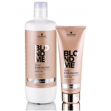 Schwarzkopf Blondme Tone Enhancing Bonding  Shampoo Cool Blondes - Шампунь для холодных оттенков волос