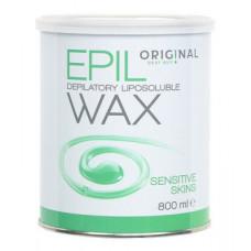Sibel Epil Depilatory Liposoluble Wax - Воск жирорастворимый для чувствительной кожи, зеленый 800 мл