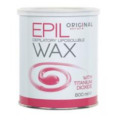 Воск жирорастворимый с титан диоксидом, розовый Sibel Epil Depilatory Liposoluble Wax 800 мл