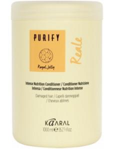 Kaaral Purify Reale Intense Conditioner - Интенсивный питательный крем-кондиционер с маточным молочком, оливковым маслом и маслом лимнантеса, 1000мл