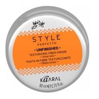 Kaaral Style Perfetto Unfinished Texturizing Fiber Cream - Волокнистая паста для текстурирования волос  80 мл