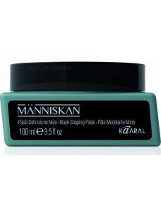 Manniskan Black Shaping Paste - Черная моделирующая паста для укладки волос, 100 мл