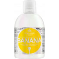 Kallos Banana Shampoo Шампунь для укрепления волос с мультивитаминным комплексом 1000 мл