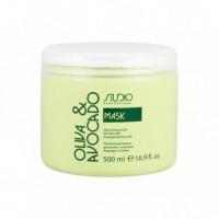 Kapous Professional Studio Hair Mask - Маска питательная для волос с маслами авокадо и оливы, 500 мл