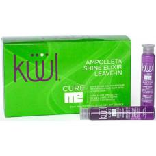 Kuul Cure Me Shine Elixir Leave-in - Эликсир-ампулы для реконструкции волос 12 мл * 12 шт