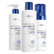 Loreal Professionnel Serioxyl - Набор от выпадения волос для окрашенных, тонких волос (shmp/250ml + cond/250ml + mousse/125ml)