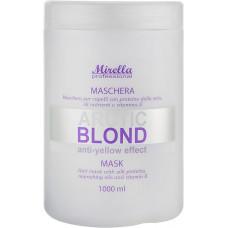 Mirella Arctic Blond Mask - Маска для светлых, седых и обесцвеченных волос 1000 мл