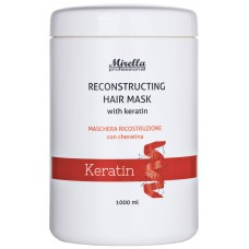 Mirella Professional Reconstructing Hair Mask with Keratin - Восстанавливающая маска с кератином 1000 мл