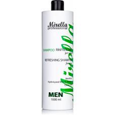 Mirella Professional Shampoo - Шампунь мужской с ментолом и касторовым маслом, 1000 мл