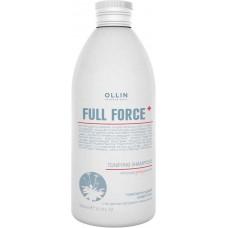 Ollin Professional Full Force Tonifying Shampoo - Тонизирующий шампунь с экстрактом пурпурного женьшеня 750 мл