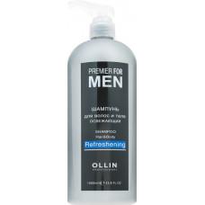 Ollin Professional Premier For Men - Освежающий мужской шампунь для волос и тела 1000 мл