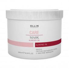 Ollin Professional Care Hair Mask - Маска против выпадения волос с маслом миндаля 500 мл
