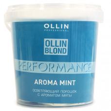 Ollin Professional Perfomance Blond Powder Mint Aroma - Осветляющий порошок с ароматом мяты 500 г