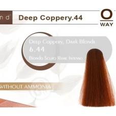 Rolland Hcolor Безаммиачная краска для волос 6,44 - Насыщенный медный темный блонд, 100 мл.