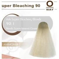 Rolland Hcolor Безаммиачная краска для волос 90.1 - Пепельный супер светлый блондин 100 мл.