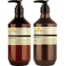 Angel Professional Provence Verbena Oil Control - НАБОР для контроля жирности кожи головы с экстрактом вербены 400 мл *2