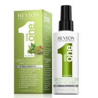Revlon Professional Uniq One Green Tea Treatment - Спрей маска для ухода за волосами с ароматом зеленого чая, 150 мл