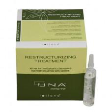 Rolland Una Restructurizing Treatment - Комплекс для восстановления ослабленных и поврежденных волос 12* 10 мл