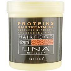 Rolland UNA Hair Food Маска для питания волос c протеинами, 1000 мл.