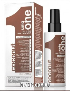 Маска-спрей для волос с ароматом кокоса - Uniq One Coconut ALL IN ONE HAIR TREATMENT 150 ml